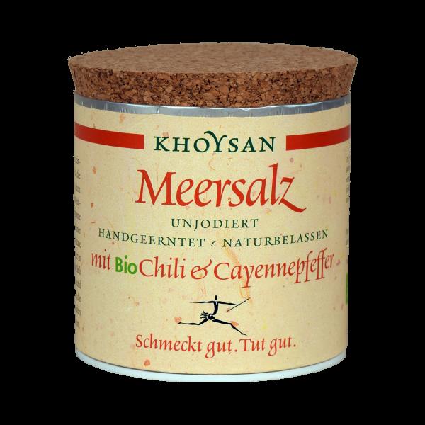 Khoysan Meersalz BioChilli & Cayennepfeffer 200 g Dose